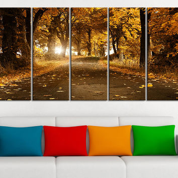 Large Wall Art Autumn and Forest Prints on Canvas - Nature Art For Living Room