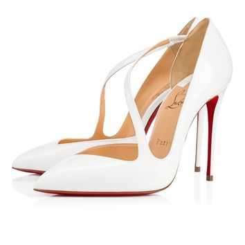 Christian Louboutin Cl Jumping Latte Patent Leather 18s Bridal 1180825wha8