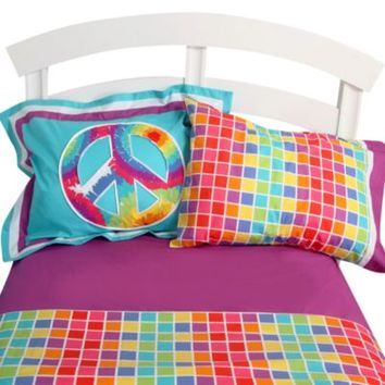 One Grace Place Terrific Tie Dye Twin Sheet Set