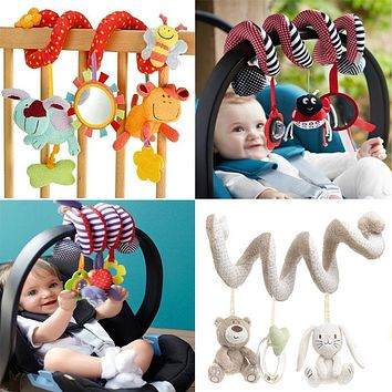 Cute Spiral Activity Stroller Car Seat Cot Lathe Hanging Travel Toys Newborn Baby Rattles Infant Toys