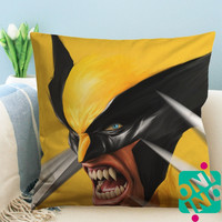 X Men Wolverine Zippered Pillow Case, Cushion Case, Pillow case