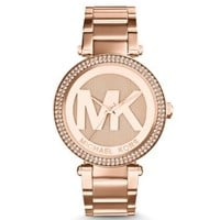 Parker Pavé Rose Gold-Tone Watch | Michael Kors