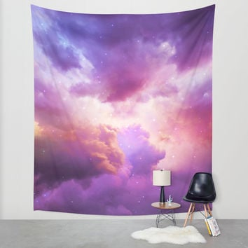 The Skies Are Painted (Cloud Galaxy) Wall Tapestry by Soaring Anchor Designs