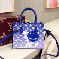 LV Simple Cloud Letter Print Women's Handbag Shoulder Crossbody Bag