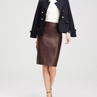 Petite Faux Leather Pencil Skirt | Ann Taylor