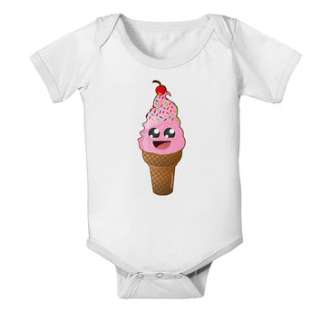 Cute Ice Cream Cone Baby Romper Bodysuit