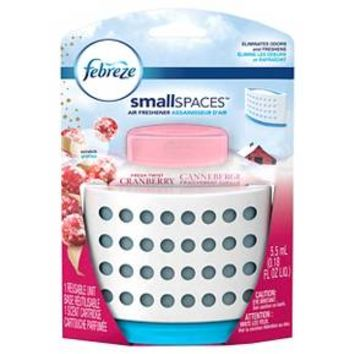 Febreze SmallSpaces Fresh Twist Cranberry Starter Kit Air Freshener, 1 Count, 5.5 mL