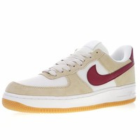 "Nike Air Force 1 Low '07 ""Beige&Red"" Sneaker 315111-100"