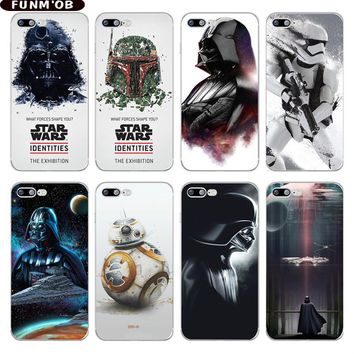 Star Wars BB8 Stormtrooper Darth Vader Soft TPU Phone Case Cover For iPhone 6 6s 7 8 Plus 5 5s SE X Capinha Coque Fundas