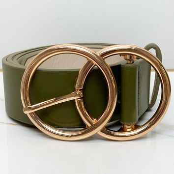 Stuck on You Waist Belt- Olive Green