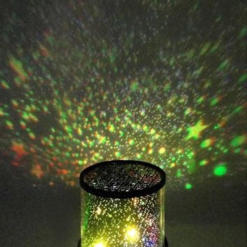 New LED Flashing Colorful Starry Sky Master Night light Projector Bedroom Star Cosmos Decoration Lamp Novelty Kids Gift