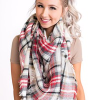 A Million Reasons Blanket Scarf (Red)