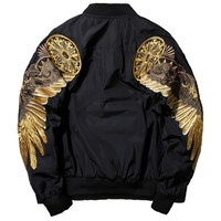 Bomber Jacket Men's Streetwea/ Brand-clothing