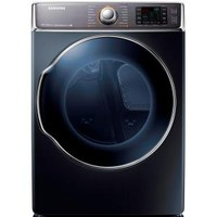 Samsung 30 in. W 9.5 cu. ft. Electric Dryer with Steam in Onyx DV56H9100EG at The Home Depot - Mobile
