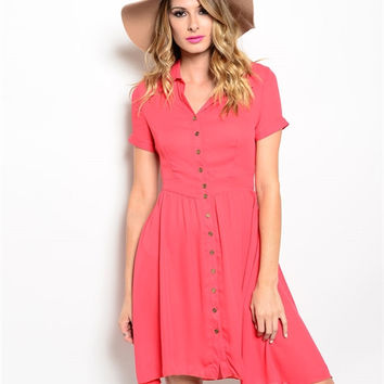 Cool Coral Dress