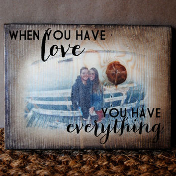 CUSTOM PHOTO // Wood Transfer and Quote Sign
