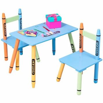 Crayon Kids Table & Chairs Set