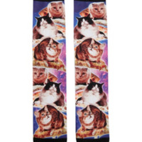 RUDE Pizza Cats Crew Socks