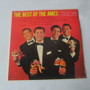 The Best of The Ames LP ,  Ames Brothers Record , Ames Brothers Hits , Vintage Vinyl LP Record , 50s Music , 50s Record , 50s Sound