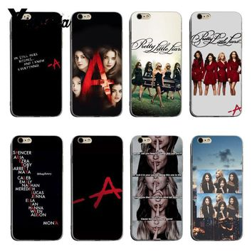 Yinuoda Pretty Little Liars PLL TV Show Protective transparent soft tpu Phone Case For iPhone XSMax X XS XR 7 8plus 6 6s 6plus