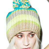 Jeanne Simmons Pom Pom Hurrah Hat Multi One