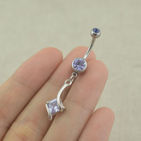 amethyst belly button rings belly button jewelry romantic belly ring