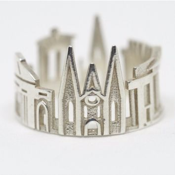Edinburgh Cityscape Statement Ring