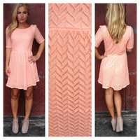 Peachy Pink Texture Dress