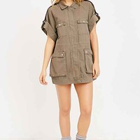 BDG Safari Vest- Brown