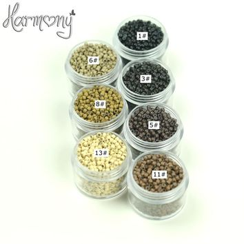 320 000pcs /320 bottles 2.90mm NANO Ring COPPER SILICONE High quality Beads nano hair extension tools 7Colors available