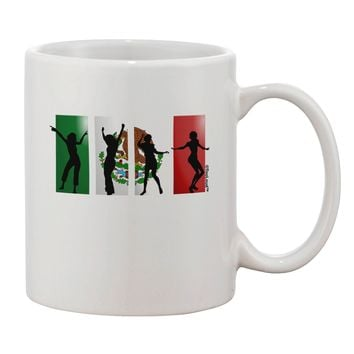 Mexican Flag - Dancing Silhouettes Printed 11oz Coffee Mug by TooLoud