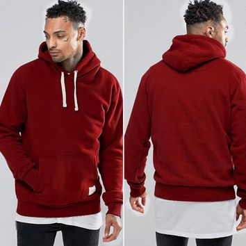 Men's Fleece Pocketed Hoodie