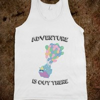 Adventure is Out There! (tank) - Text Tees