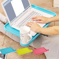 Portable Light Plastic Notebook Desk Laptop Table Computer Desk Stand for Bed Office Furniture Foldable Small Desk
