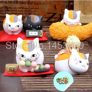 Janpanese Anime Cartoon Natsume Cat Teacher 4pcs/set PVC Model Toys Figure Christmas Gifts For Kids