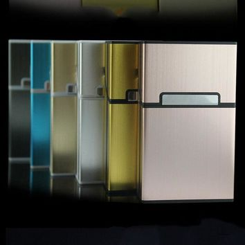 ac VLXC Thin Fashion Pipe Creative Personality Cigaret Case Slim Metal Cigarette Case Cigarette Box Aluminum Gift Box