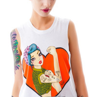 Valfré I Can I Will Muscle Tee White
