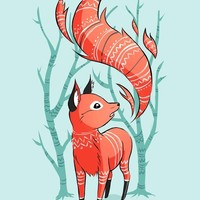 """Winter Fox"" - Art Print by Indré Bankauskaité"