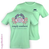 Simply Southern Collection Crab T-Shirt in Mint