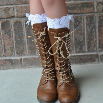 9647a593af7 Lace Boot Cuffs - Faux Lace Boot Socks - Faux Lace Leg Warmers - Lace Boot