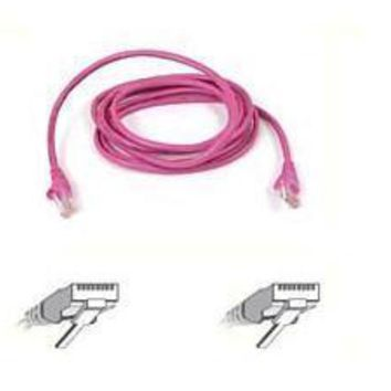 Belkin Components 7ft Cat5e Patch Cable, Utp, Pink Pvc Jacket, 24awg, T568b, 50 Micron, Gold Plate