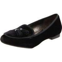 Libby Edelman Women`s Andie Slip-On Loafer,Black Velvet,8 M US