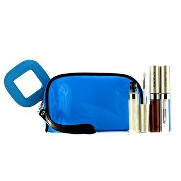 Lip Gloss Set With Blue Cosmetic Bag (3xMode Gloss, 1xCosmetic Bag) - 3pcs+1bag