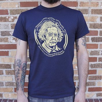 Mens Einstein's Imagination T-Shirt