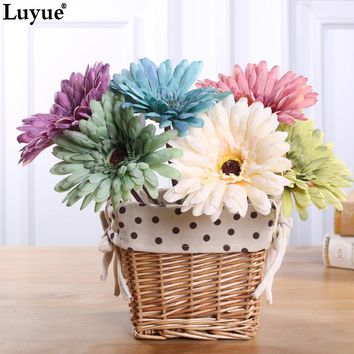 10pcs/lot Elegant Artificial Gerbera Real Touch Small Daisy Wedding Decoration Flowers Decorative Home Party Decor