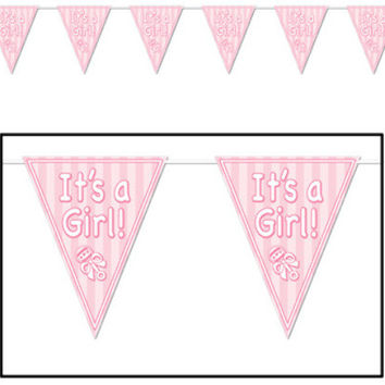 It's a Girl! Pennant Banner Case Pack 12