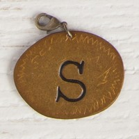 """""""S""""  Junk  Market  Copper  Initial  Charm  From  Natural  Life"""