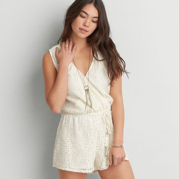 5d8f5c00944f AEO LACE WRAP ROMPER from American Eagle Outfitters