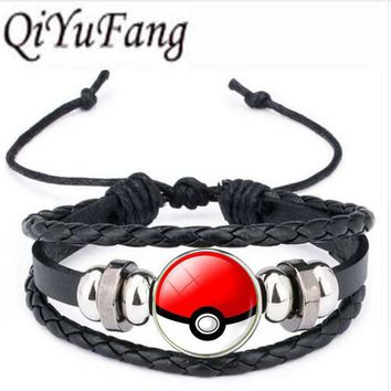 Qiyufang Fashion Color bracelet bangle Pokemon Ball Statement Chain bracelet bangle Newest Vintage Style bracelet bangle 2017