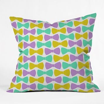 Allyson Johnson Bright Bow Ties Throw Pillow